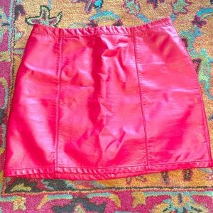 Forever 21 pencil faux leather skirt.